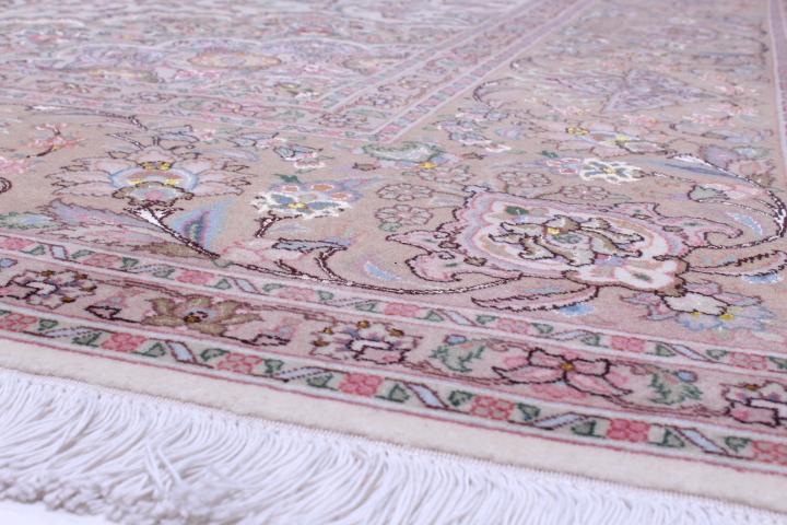 Square 10' 50 raj Tabriz Persian rug. Large square Tabriz Persian carpet.