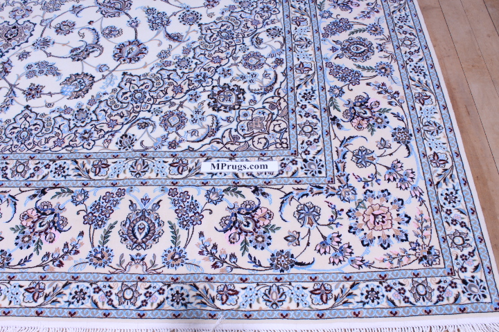 8x5 Nain 6la persian rug with 500 kpsi