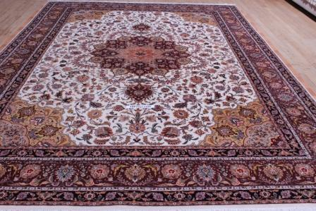 10x13 Tabriz Persian rug with 350 kpsi 50 raj