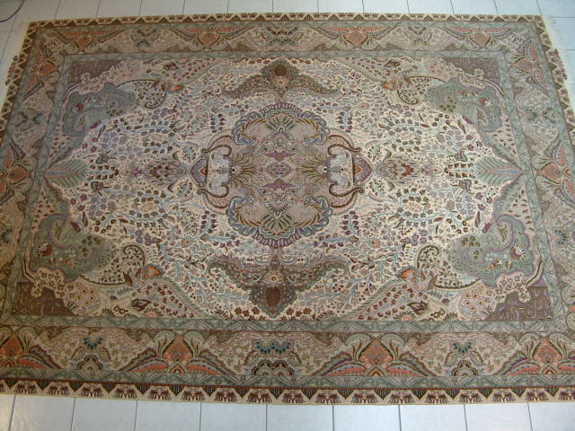 Persian Carpet #2. High quality Tabriz Persian carpet made of fine Kurkwool and silk. All of my Tabriz Persian carpets are very fine and genuine handmade carpets and I only offer Tabriz carpets that are at least 50 raj.