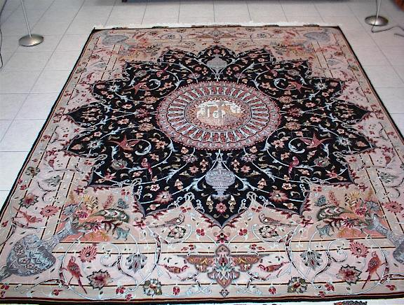 Very Fine Persian Isfahan Carpet With A Picturial And Star Shaped Design Which Is