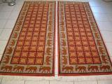 TWIN PERSIAN CARPETS. Click on picture or text to read and see more about twin Persian rugs. Twin Persian carpets are very unique due to the fact that most Persian rugs are made individually. The most common places for twin rugs are in long hallways and bedrooms.