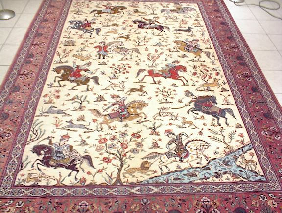 Pictorial Qom Persian Carpet Which Like All Of My Pure Silk Oriental Rugs