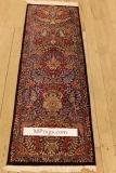5' silk qom Persian rug runners 1000kpsi; pure silk Qum Persian carpet runners. Genuine pure silk qom Persian rug runner