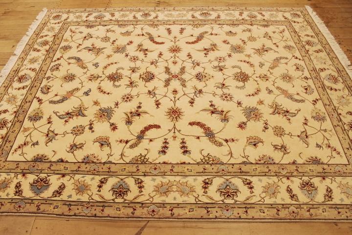 8x6 50 Raj Faraji Tabriz Persian rug. Signed faraji Tabriz Persian carpet.