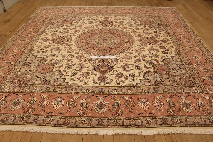 9x9 Square Tabriz Persian Rugs 10 50 Raj Tabriz Persian