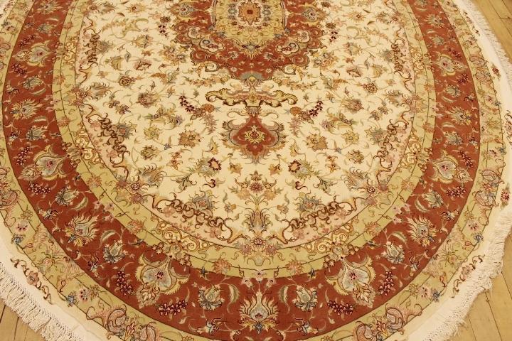 55 Raj Oval Tabriz Persian Rugs Beige Tabriz Persian Carpet