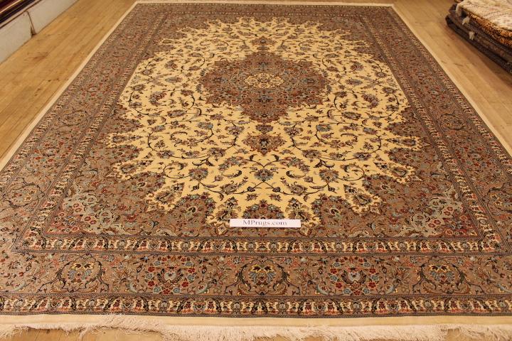 Oversize 3m X 4m Silk Qom Persian Rugs Gorgeous Qum Carpets