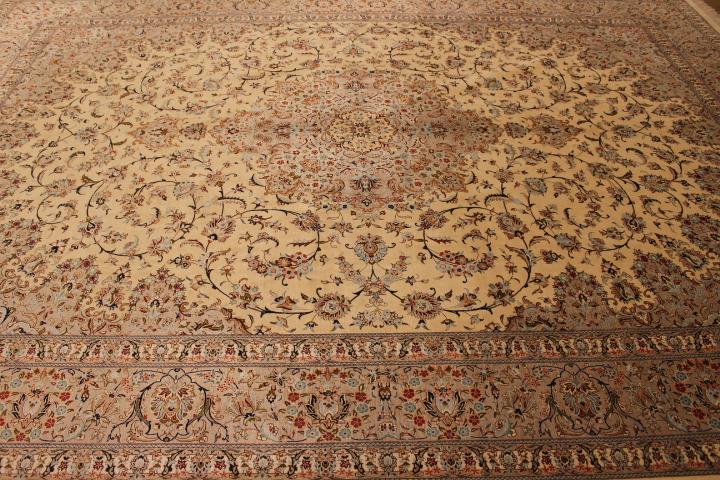 3mx4m oversized Qom silk Persian rugs. Pure Silk Qum Persian carpet in 3m by 4m oversize.