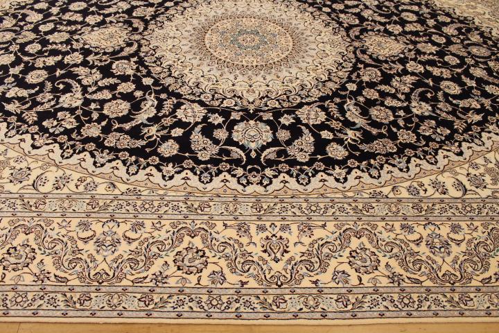 13x10 Nain 6Lah Persian rug. Very fine Nain Persian carpet with lots of silk highlights.