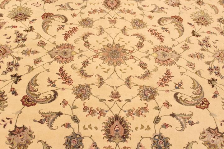 10x13 50 Raj Faraji Tabriz Persian rug. Signed faraji Tabriz Persian carpet.