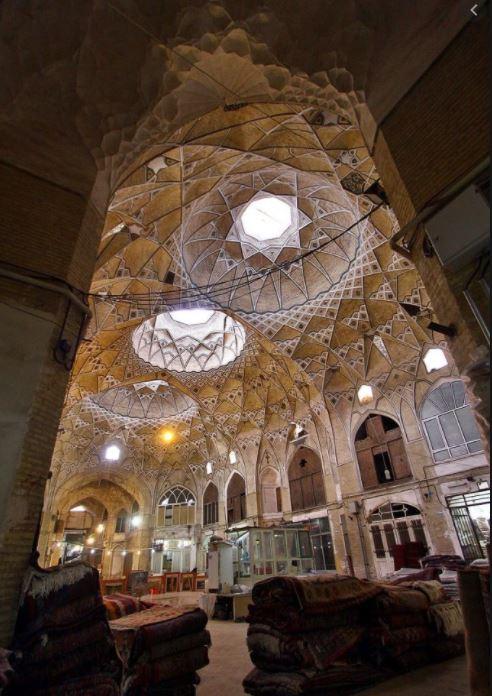 Carpet bazaar Qom Iran