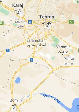 Map Qom Iran