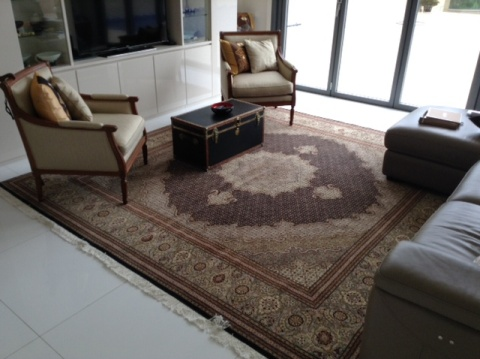 Persian rug client in Asia