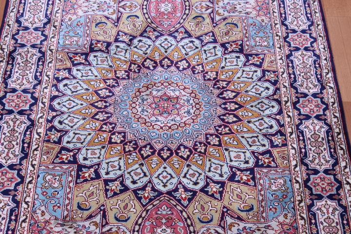 Long Gonbad Indian Tabriz Persian Rug Runner 14 Silk Rugs Genuine Handmade