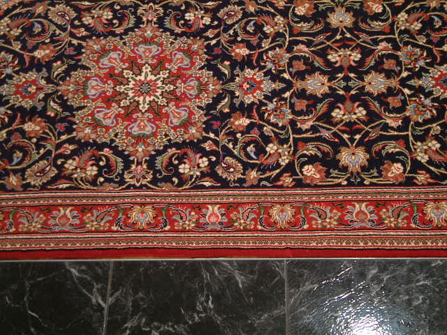 Qom Persian rug; All Persian Rugs are genuine handmade. Also, every Persian Qom rug I offer is made with fine kurkwool/silk.