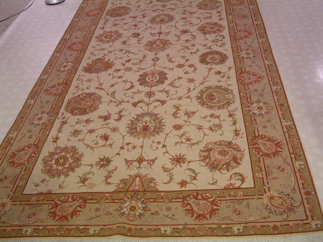 16x6 Tabriz Persian rug with silk, 16x5 rare Faraji high quality Tabriz Persian carpets.