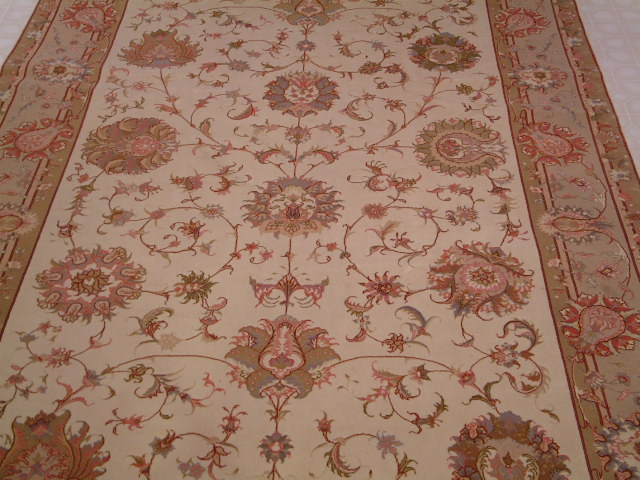 Tabriz runner Persian rug; All Persian Rugs are genuine handmade. Also, every Persian Tabriz rug I offer is made with fine kurkwool/silk.