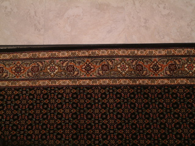 Tabriz Pirouzian runner Persian rug; Mahi Persian Carpet made of the finest kurkwool/silk