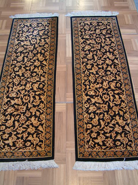 Qom PURE SILK Persian rug #4111, click on the picture or description for more details about the Persian carpets.