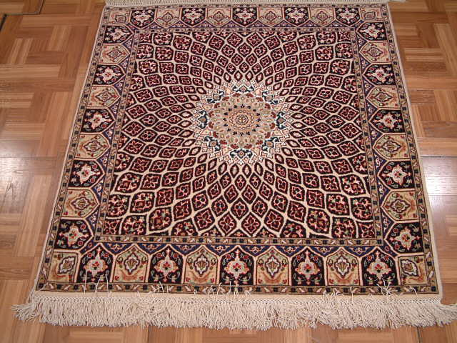Tabriz Persian rug #2107, click on the picture or description for more details about the Persian carpets.