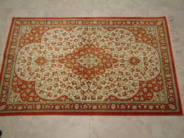 Qom Persian rug #2116, click on the picture or description for more details about the Persian carpets.