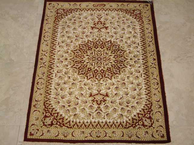Qom Persian rug #2117, click on the picture or description for more details about the Persian carpets.