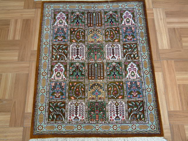 Qom Persian rug #2119, click on the picture or description for more details about the Persian carpets.